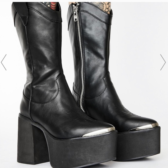 Dollskill Platform Cowboy Boots